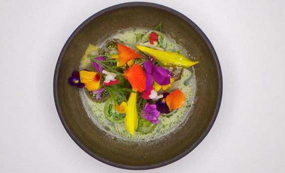 flores en gastronomía