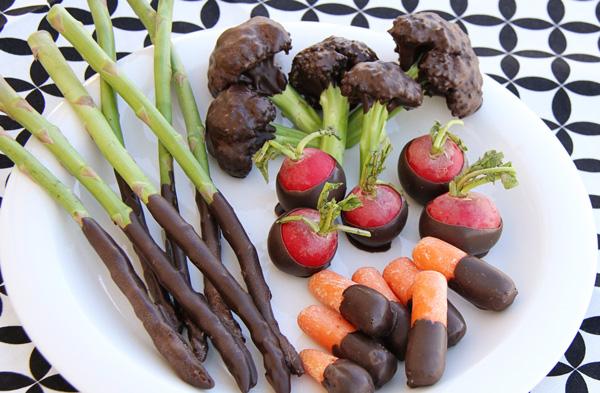 hortalizas y chocolate